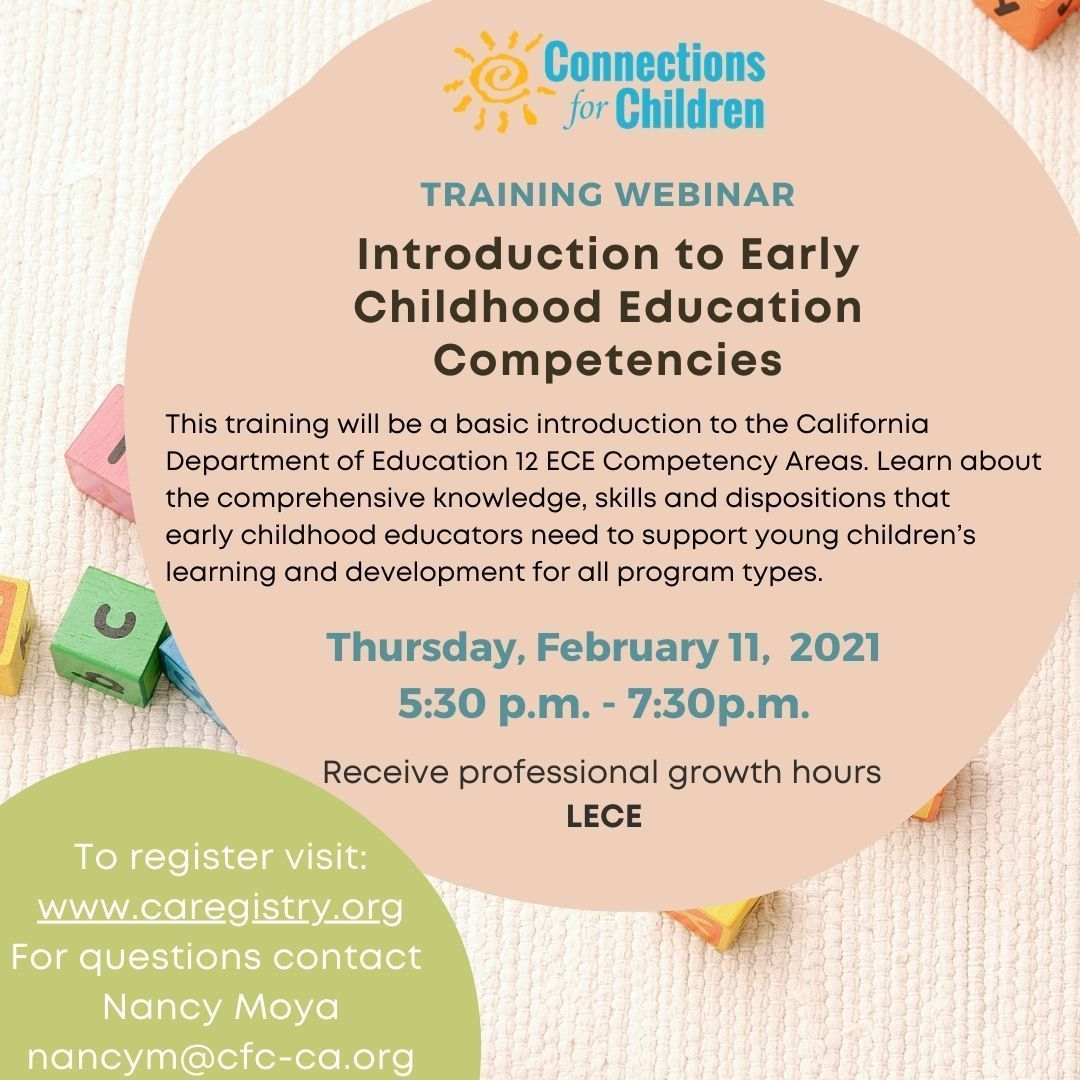 Introduction to California Early Childhood Education (ECE) Competencies