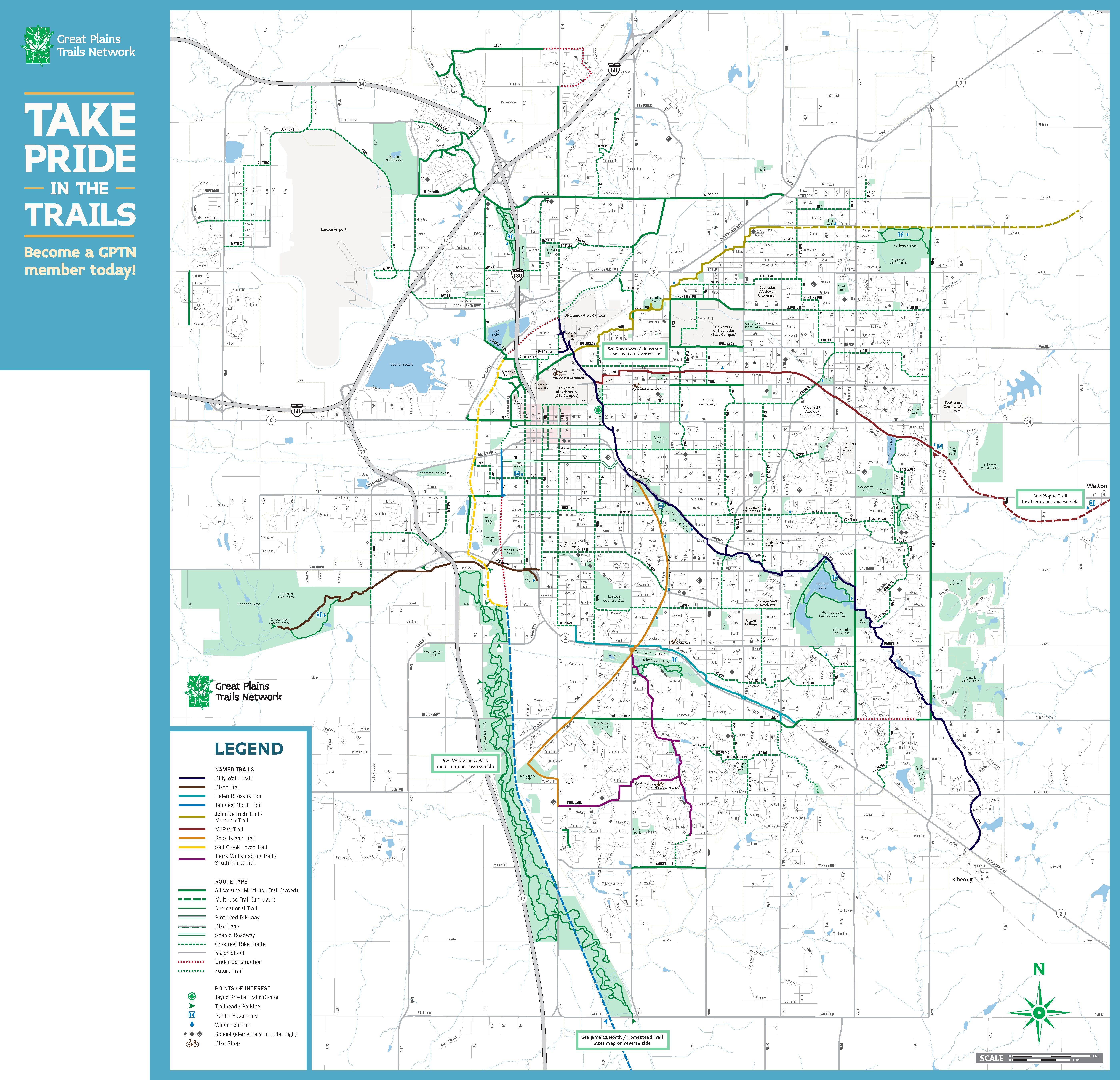 Bike Trails Lincoln Ne Bike Paths Lincoln Ne Bicycling