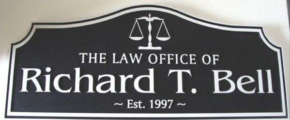 A10142 - Carved and Sandblasted Law Office Sign