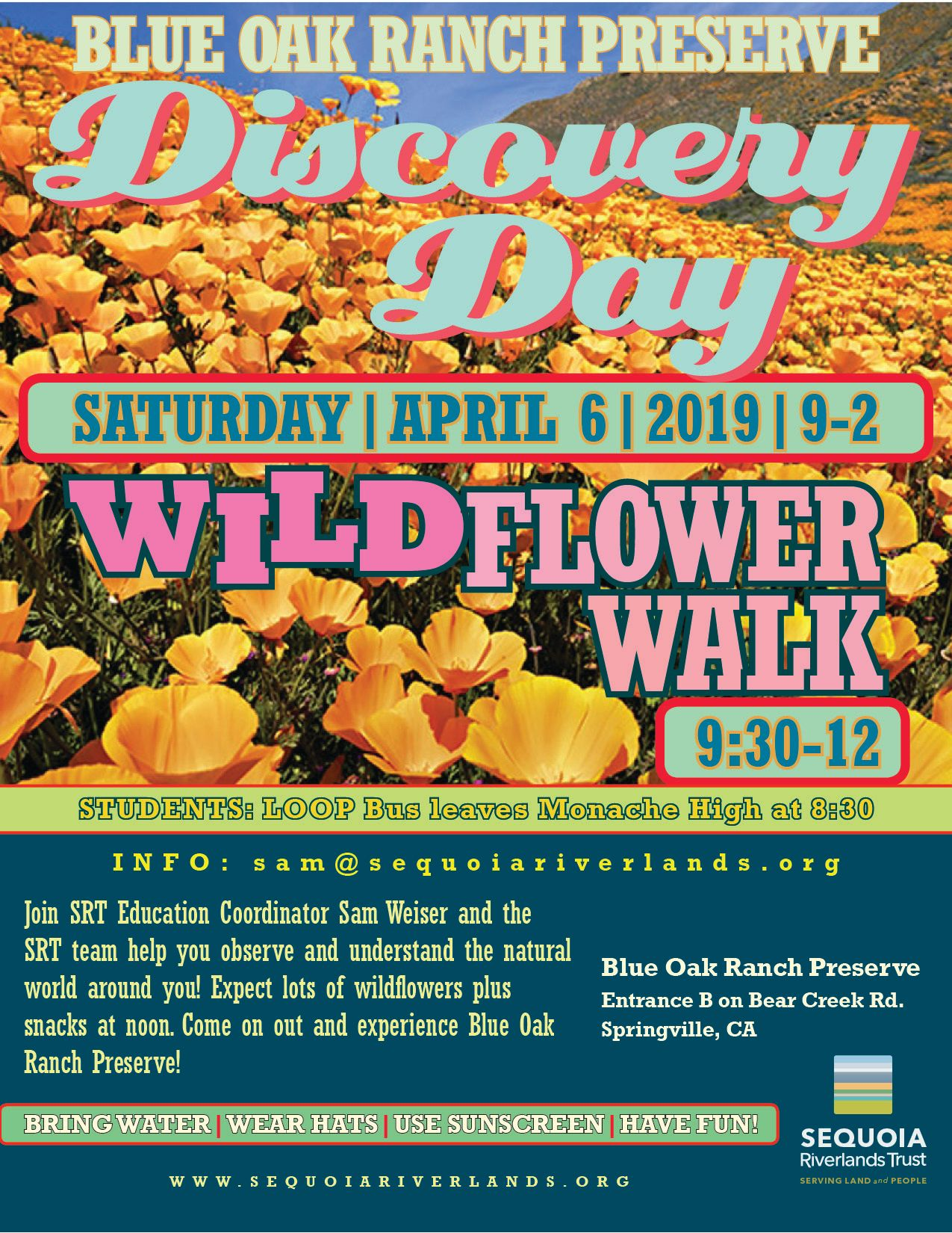 WILDflower Walk April 6!