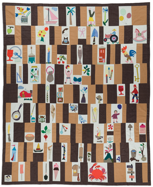'Child's Quilt.' 1958, hand appliqué, 69.5 x 84 in, IQSCM 2010.014.0025