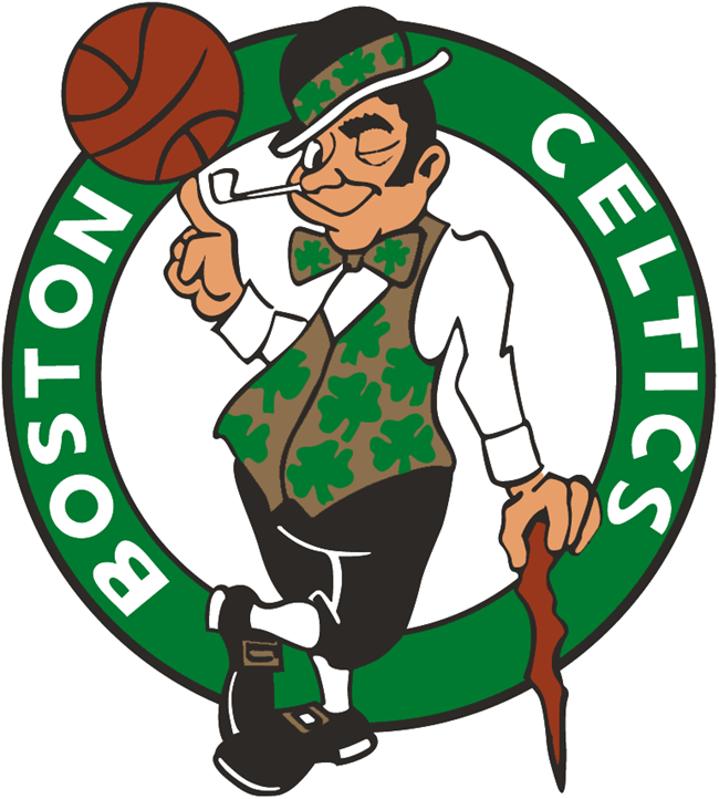 WP-1100 - Carved Wall Plaque of Logo for Boston Celtics ,NBA,    Artist Painted