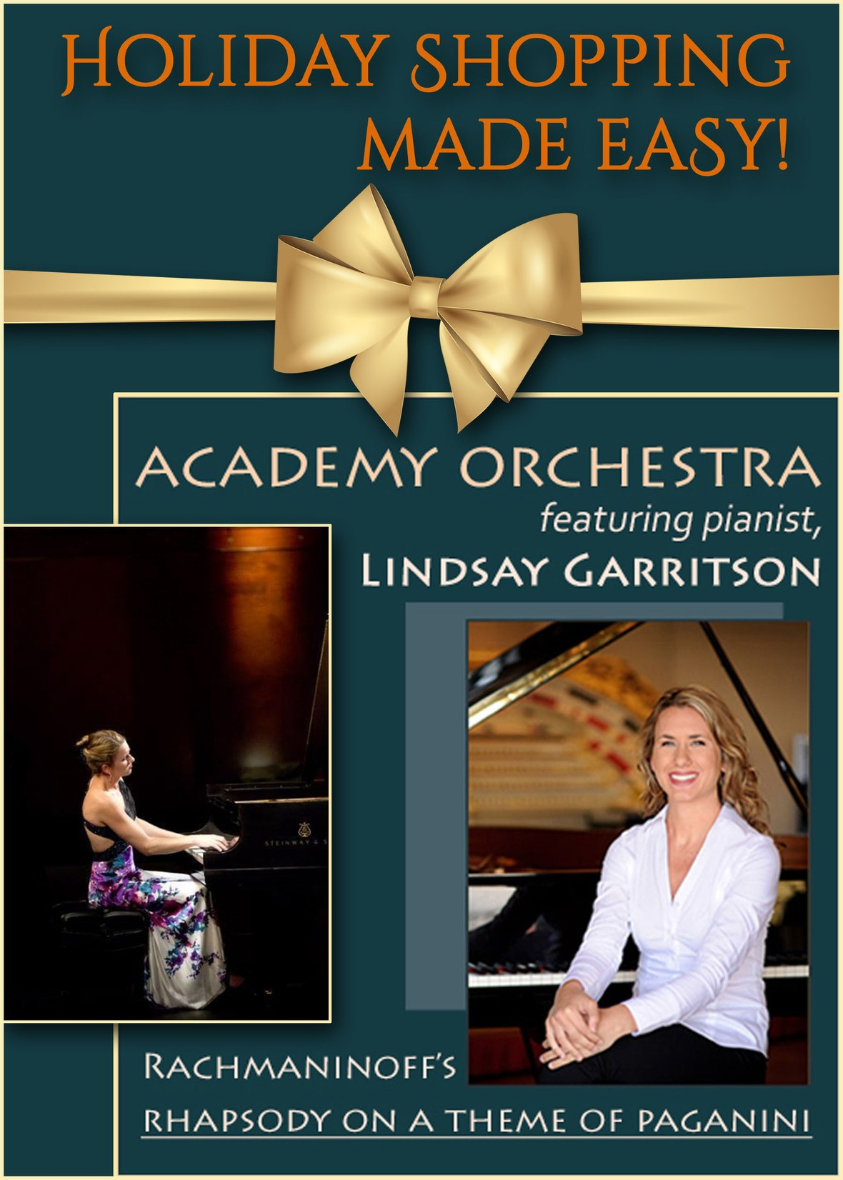 Academy Orchestra featuring pianist, Lindsay Garritson