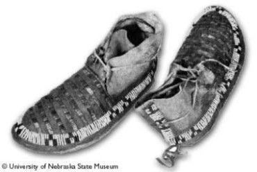 Plains Sioux moccasins