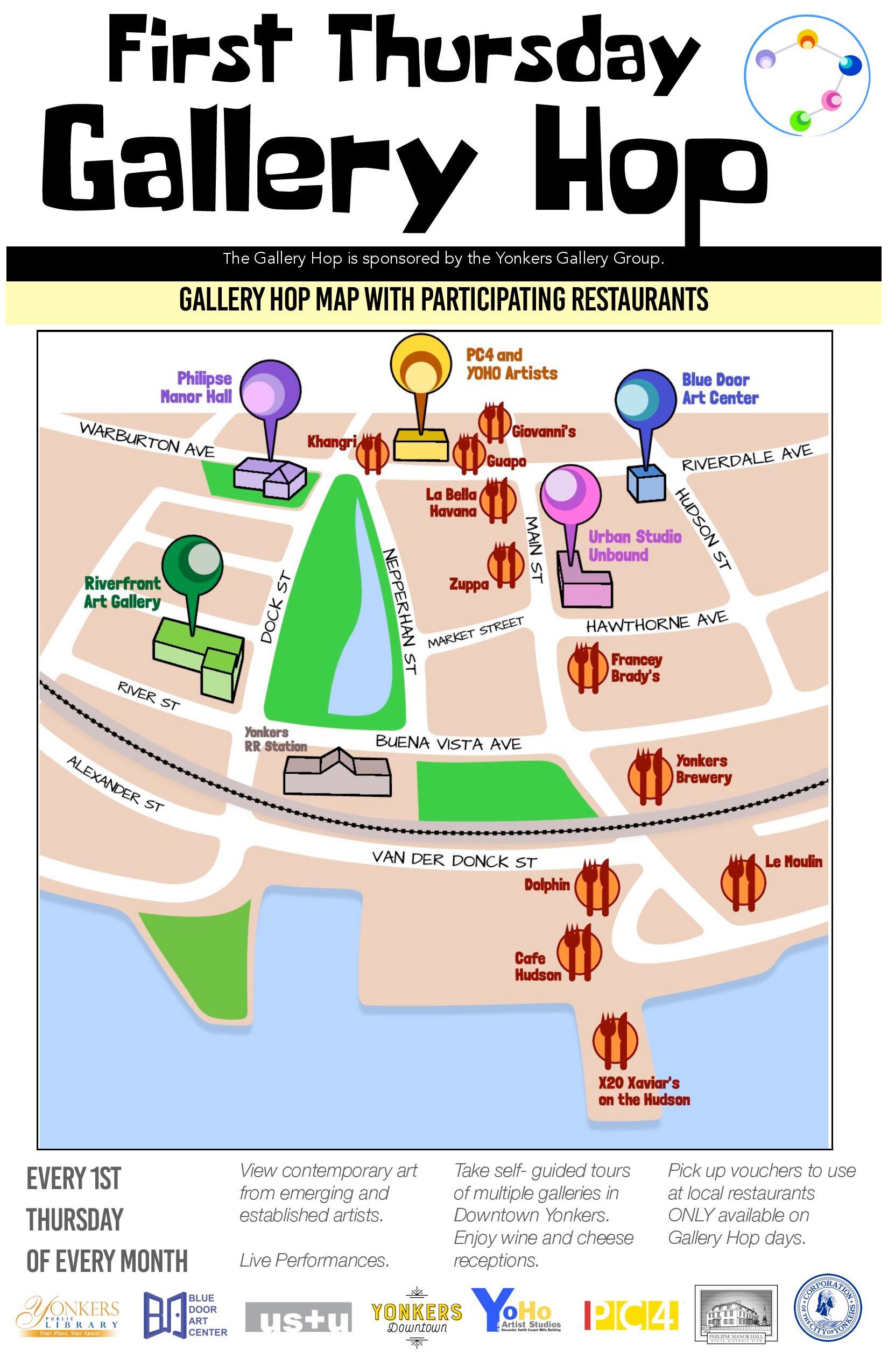 Gallery Hop Map