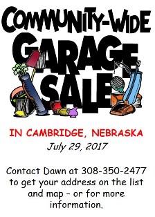 2017 Community Garage Sales