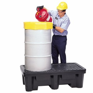 A01PF326 2 Drum Spill Pallet With Drain