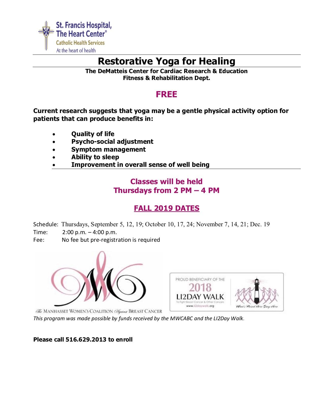 RESTORATIVE YOGA FOR HEALING