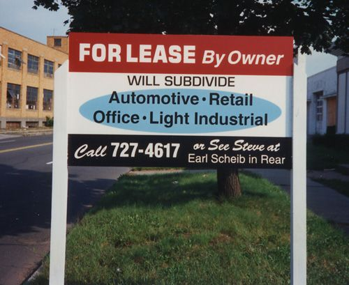 "Real Estate ""For Lease"" Post & Panel Sign"