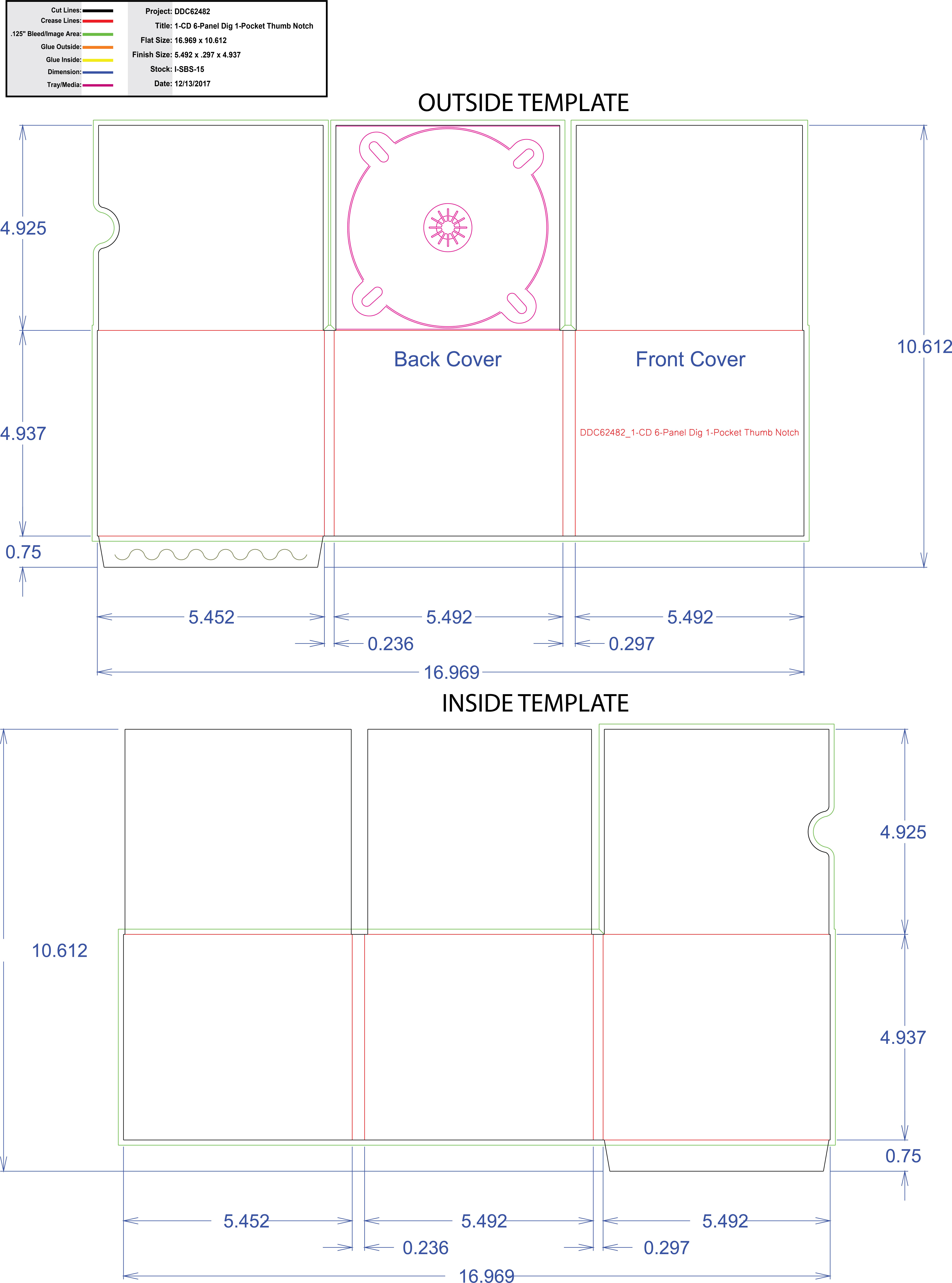 DDC62482 - 6 panel Digi One Pocket Thumb Notch