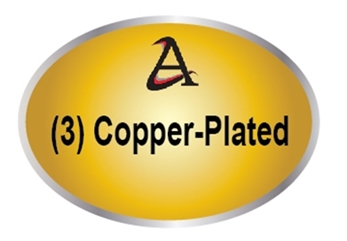 M7201 - (3). Copper-Plated  Plaques