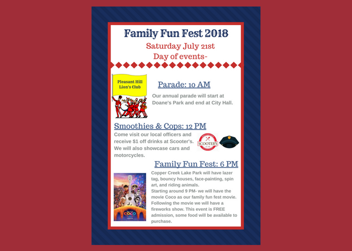Pleasant Hill Family Fun Fest 2018