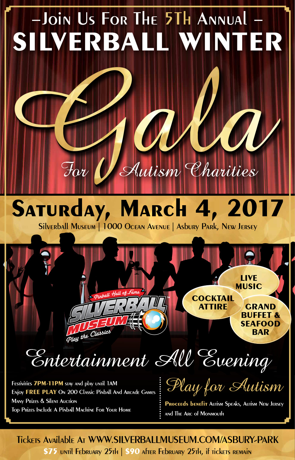 The Fifth Annual Silverball Gala Will Benefit Three Autism Charities