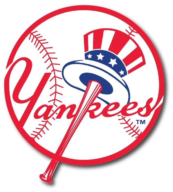 WP-1140 - Carved Wall Plaque of Logo for NY Yankees ,MLB,  Artist Painted