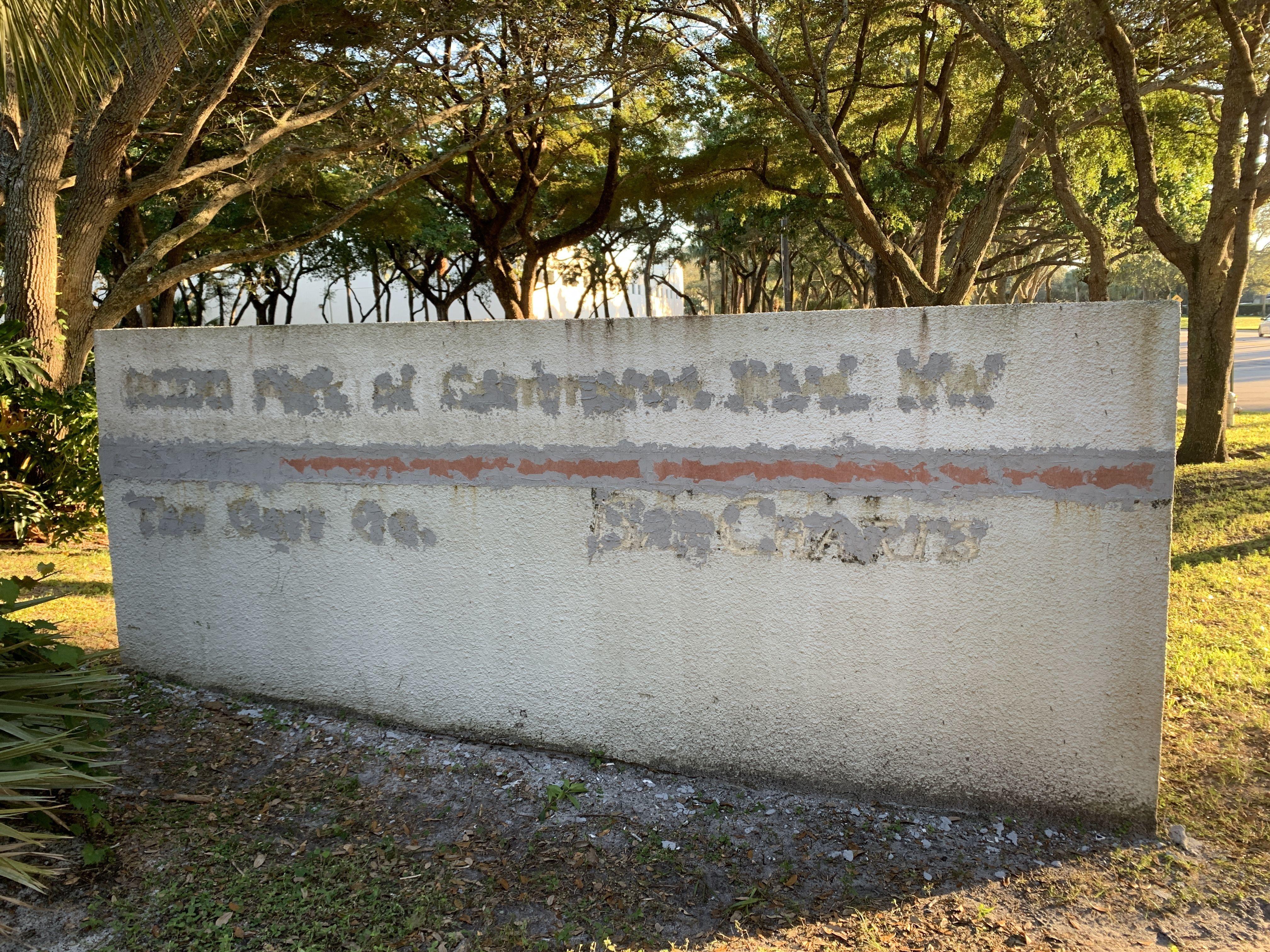 Monument Sign Refurbish