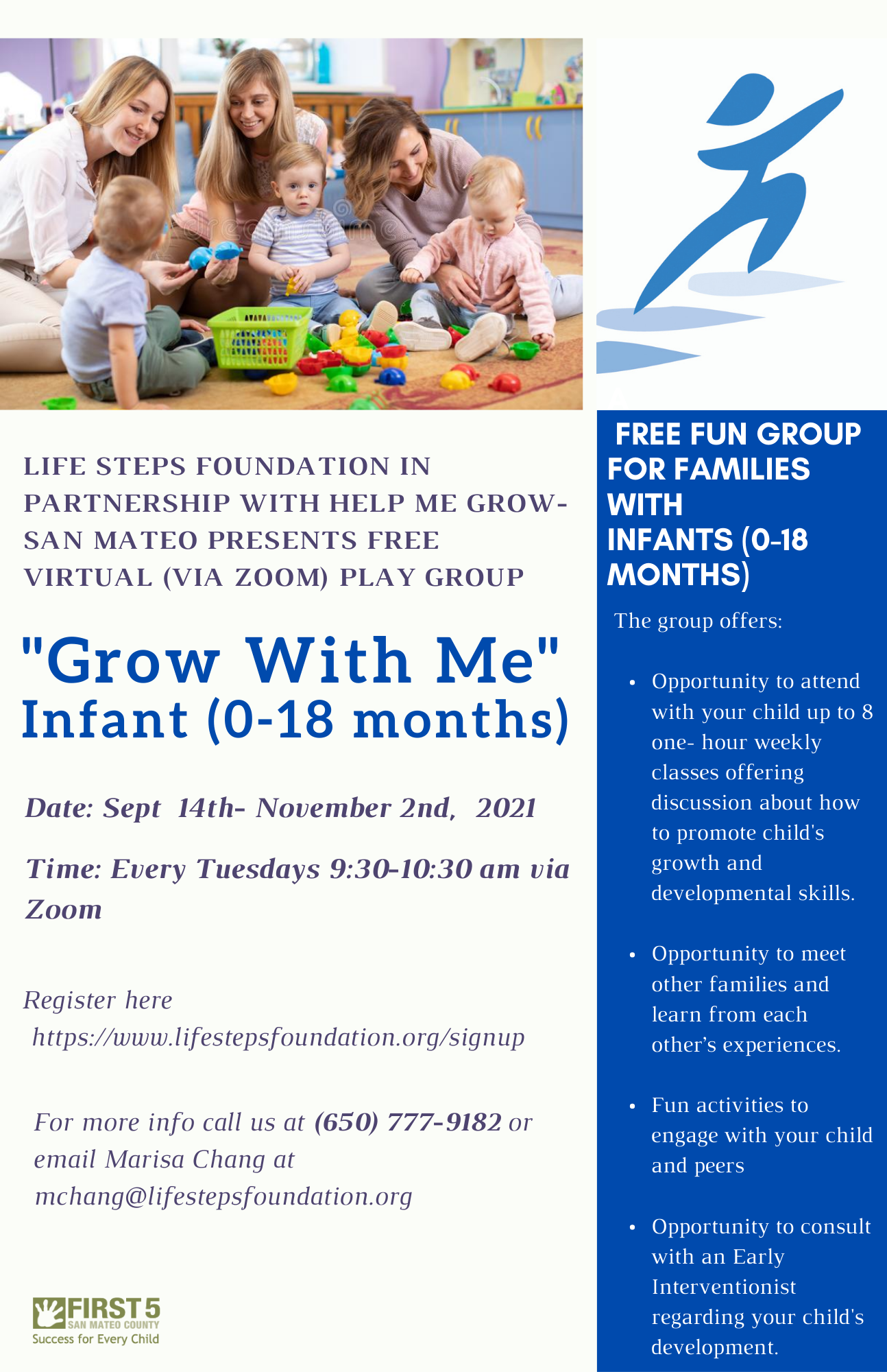 Grow With Me Playgroup - Flyer