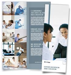 Folded Vertical Brochure