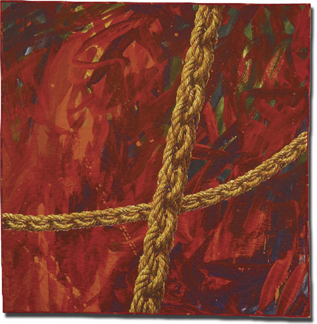 "'Watermark ""R"" Romeo,' made by Gayle Fraas & Duncan Slade, dated 2003, 55.25 x 53.75 in, IQSCM 2011.058.0002"