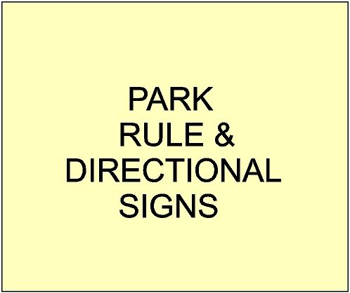3. -  Carved Information, Rules, Directional and Building Signs for City, Town, Village and Private Parks & Garden