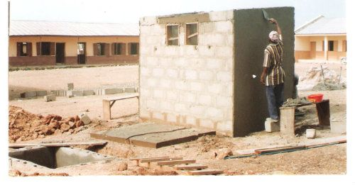 Construction of Toilet Facilities in Primary School in Nigeria in 2007.