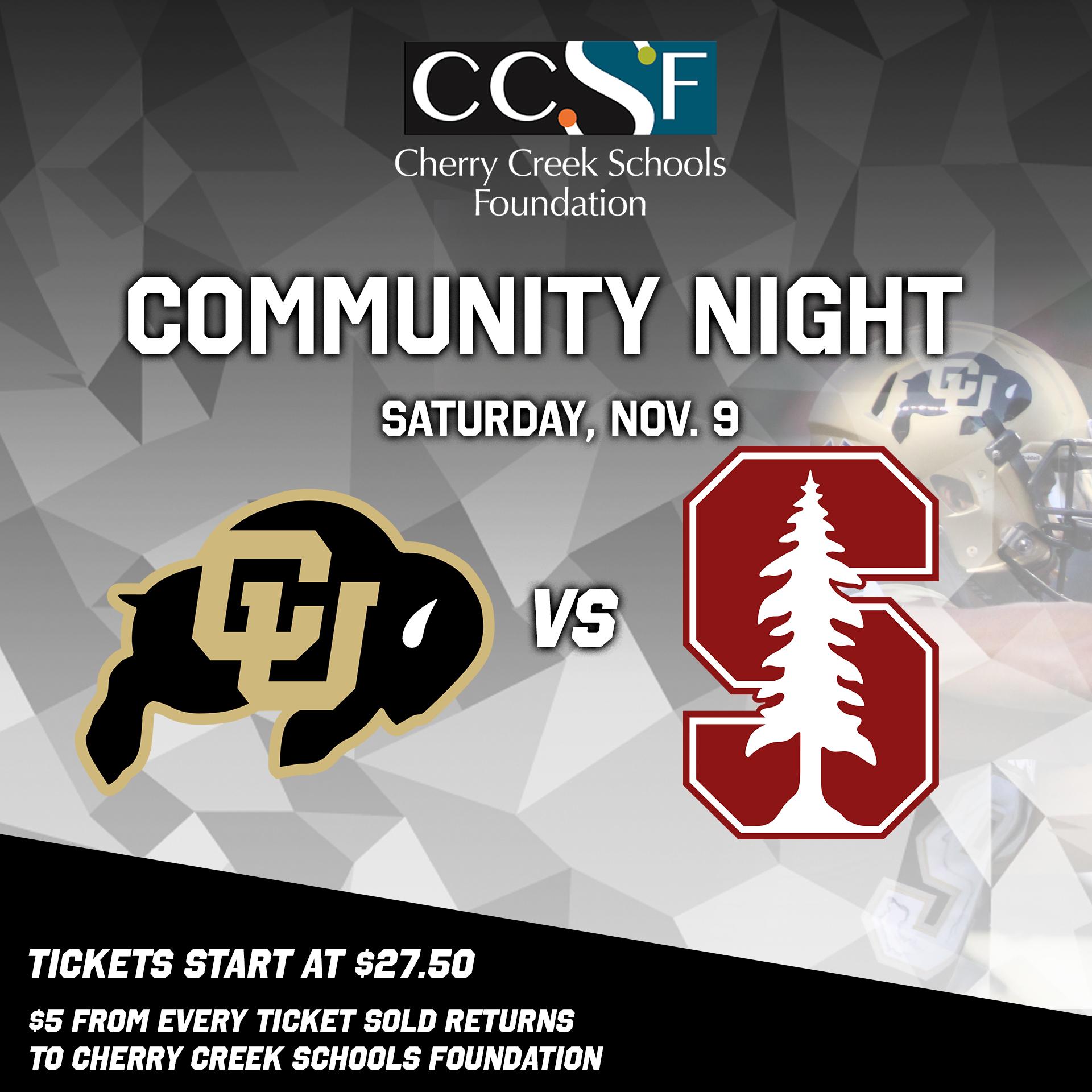 Colorado Buffaloes vs Stanford Cardinals Community Night