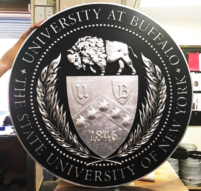 MS6020 - Seal of the State University of New York at Buffalo, 3-D