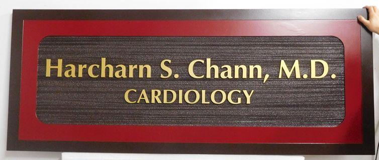 B11039 - Carved, HDU Medical Office Sign for Cardiologist
