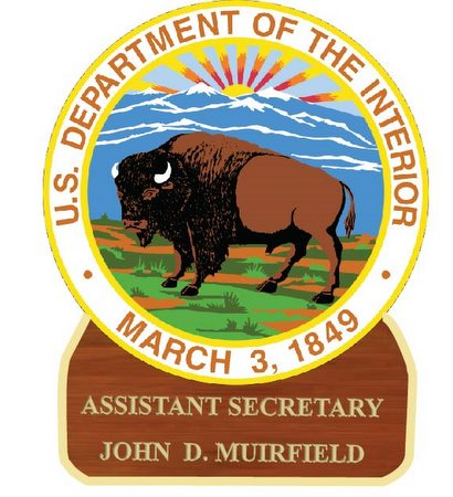 U30185 - Department of the Interior Personalized Carved Desk Plaque