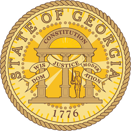 W32141 - 2.5D Carved Wood Wall Plaque of the Great Seal of Georgia (Version 2)