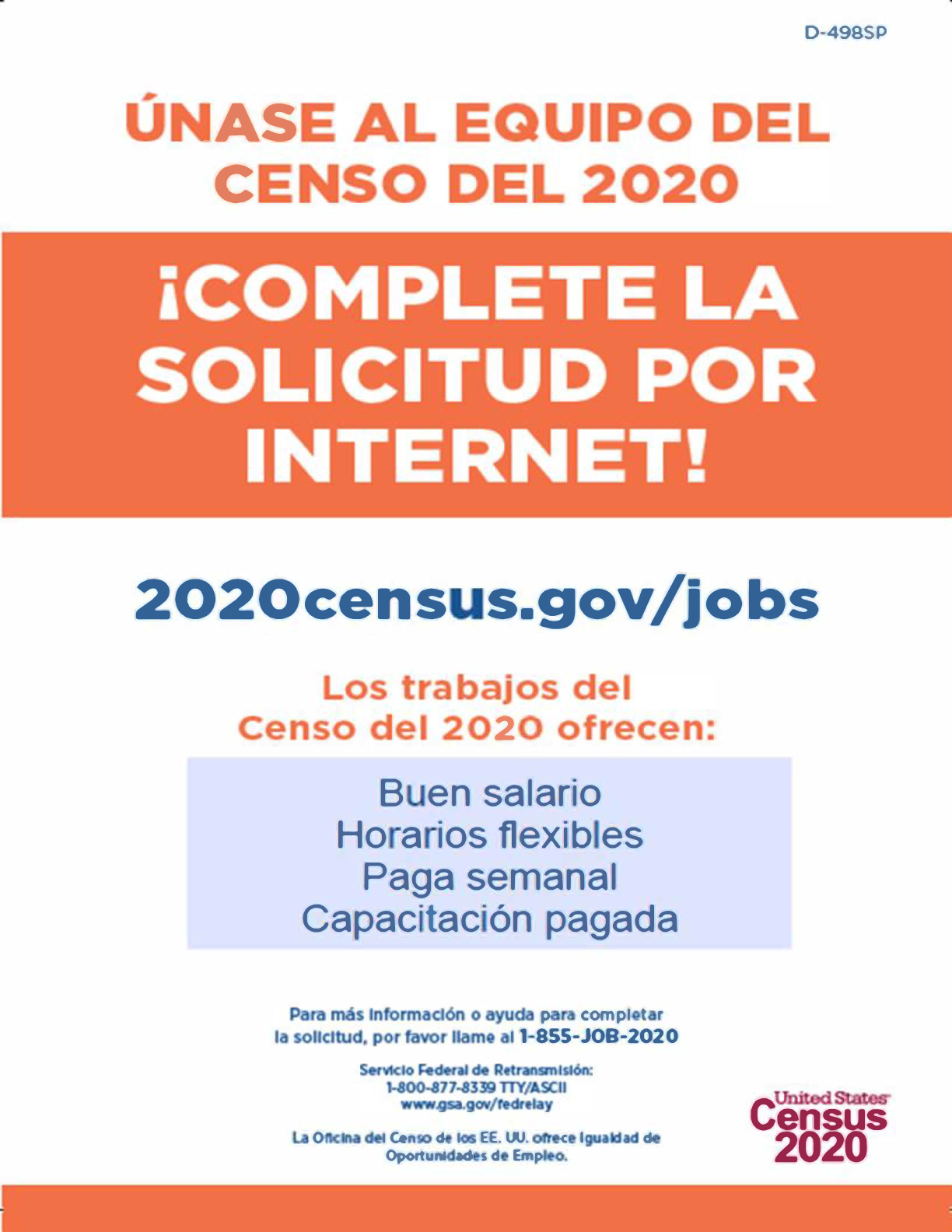 Census Jobs Poster in Spanish