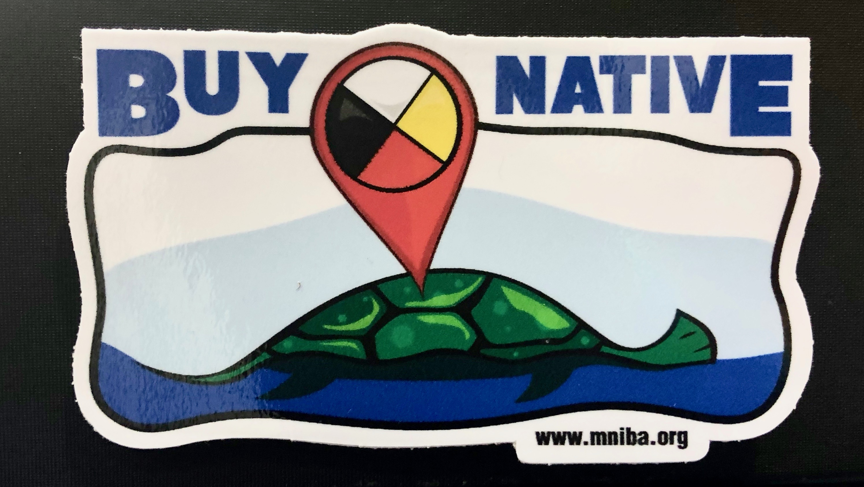 Turtle Island Location Pin Sticker