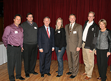 Board Members with the Governor
