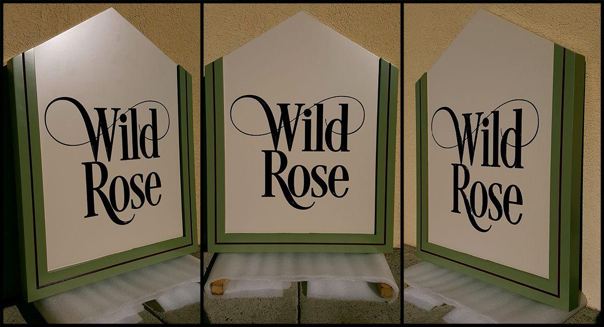 Wild Rose Cabin Sign