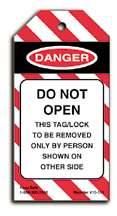 Do Not Open Lockout Tag