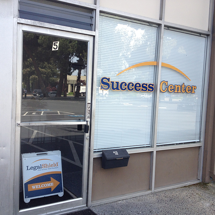 Legal Shield Success Center Window Graphics