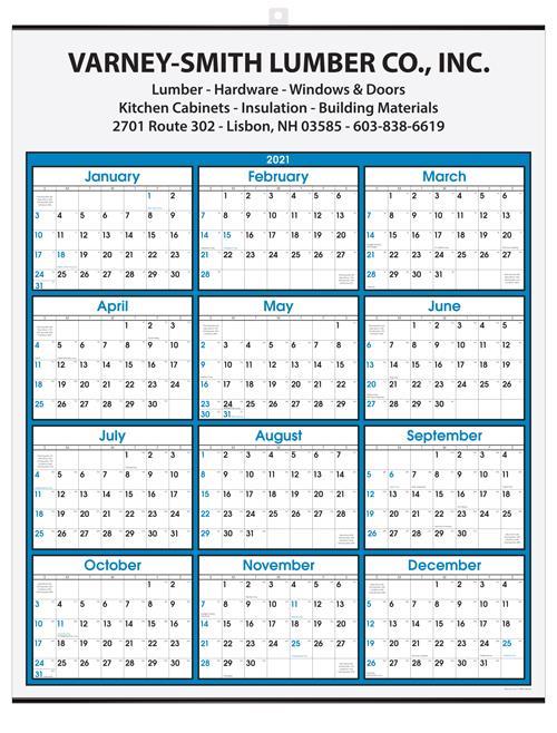 "Year-at-a-Glance Wall Calendar 22"" x 28"" -  Top Imprint DL-2280"
