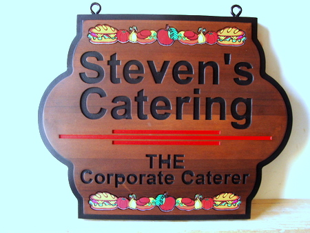 Q25618 -  Natural Wood Engraved Catering Sign