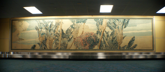 Airport - Wall Art Tapestry