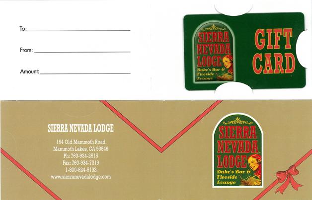 Sierra Nevada Lodge Gift Card Carrier