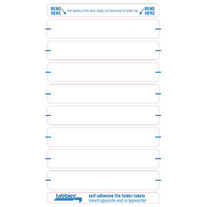59430 - White Color Bar Name Labels