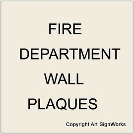 X33850 - Carved Wooden Wall Plaques for Fire Departments