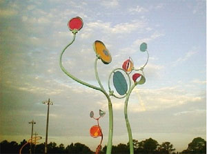 Halpatiokee Park's Wind Games sculpture by Mary Watkins