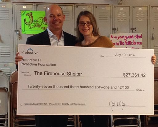 Protective Life Donates $27,361 To The Firehouse Shelter