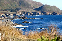 This is a picture of the beach off the Pacific Coast Highway
