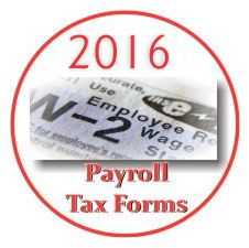 2016 Payroll Tax Forms