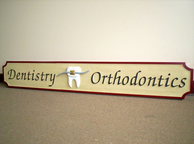 BA11630 – Single-faced Hanging Sign for General Dentistry and Orthodontrics