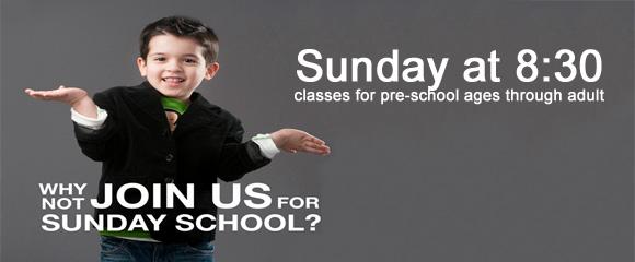 *Why Not Sunday School?