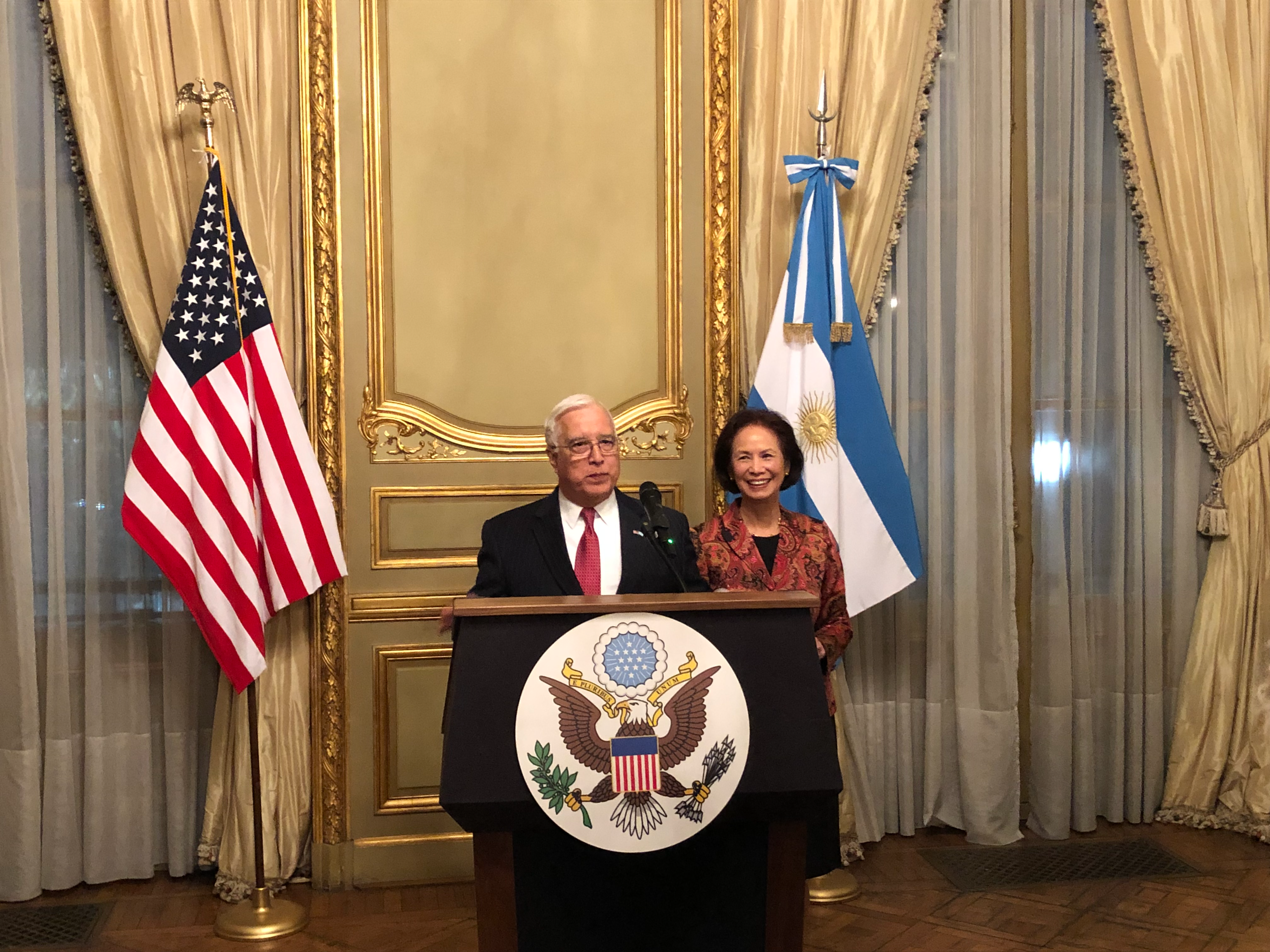U.S. Ambassador Edward Prado & His Wife, Maria