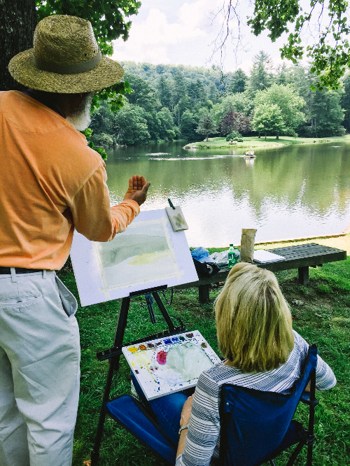 Plein Air Watercolor with Dwight Rose