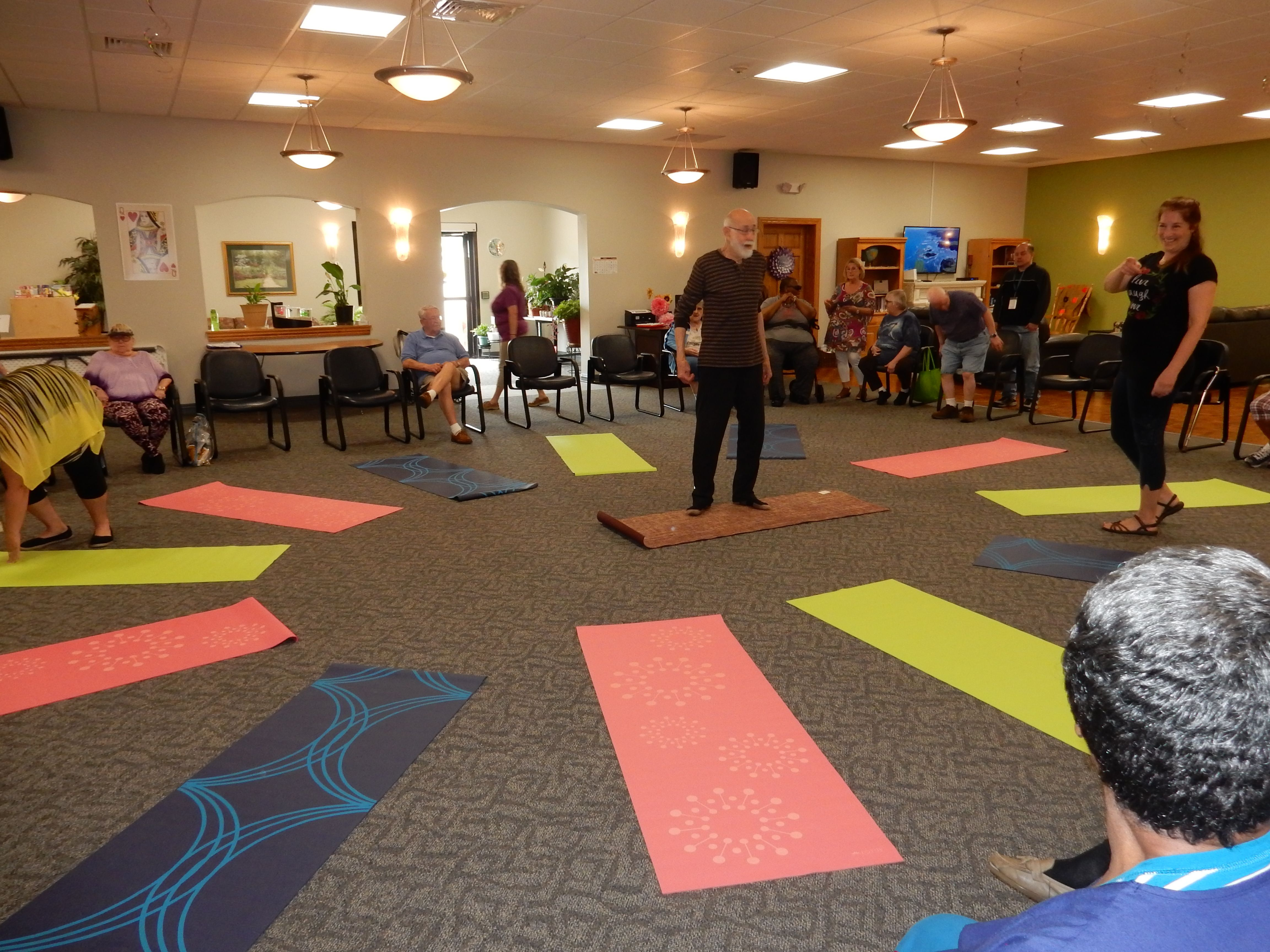 Thank you to Rhonda Kuster and Kedric, YOGA INSTRUCTORS, for donating all the YOGA mats to the children!